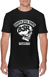 savae Mens Funny Broken Skull Ranch Logo T-Shirts Black