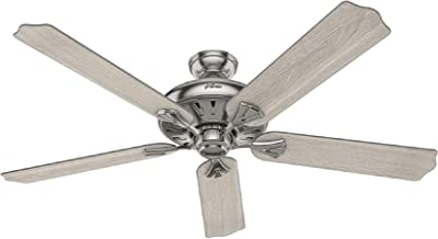 """Hunter Fan Company 51120 Royal Oak Indoor Ceiling Fan with Remote Control, 60"""", Brushed Nickel"""