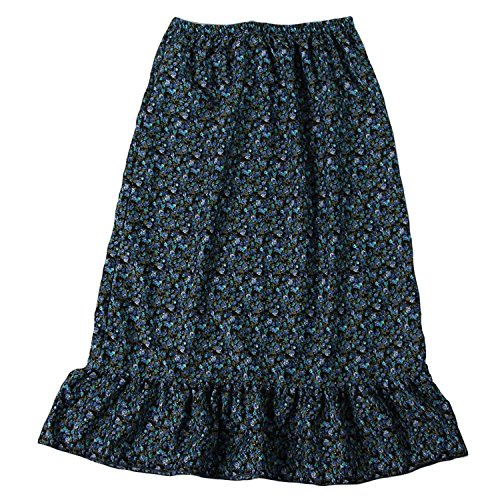 Girls Calico Pioneer Peasant Costume Skirt (Girls Large 8/10, Blue Calico) - http://coolthings.us