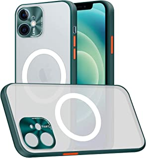 Compatible with iPhone 12 Case, Built-in Magnetic Circle Support for Wireless Charging Ultra Thin Shockproof Protective Ma...