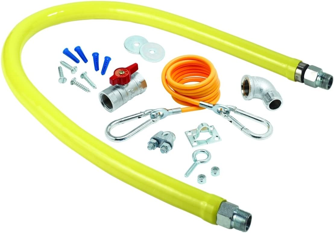 TS Brass HG-2E-48K Gas Colorado Springs Mall Hose with Max 55% OFF 1-Inch Fittings Npt Free Spin
