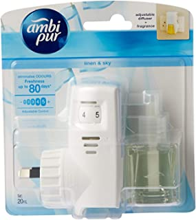 Ambi Pur Linen and Sky Plug-in Air Freshener set (1 Diffuser Unit and 1 Perfume Bottle 20ml)