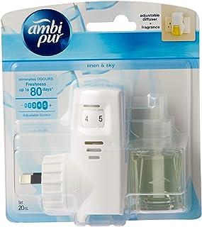 Ambi Pur Linen & Sky Plug-in Air Freshener set (1 Diffuser Unit & 1 Perfume Bottle 20ml)