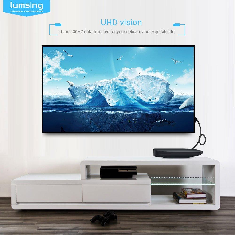 Lumsing Cable Ultra-delgado HDMI flexible de alta velocidad. Soporta Full 1080P, 4K Audio Return Channel 5m/16.5ft: Amazon.es: Electrónica
