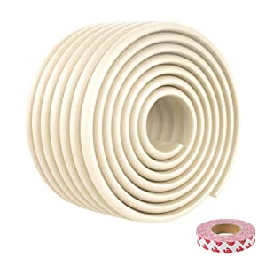 Baby Proofing Edge Guards 15.7ft Extra Wide Edge Protectors with 3M Tapes for Table, Desk, Fireplace(Beige)