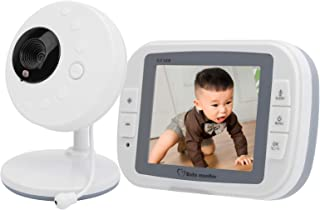 Baby Monitor with Camera and Audio - 3.5Inch Digital Wireless Baby Monitor Camera WiFi Video Baby Monitor with Night Light...