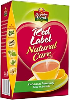Red Label Natural Care Tea, Made with 5 Ayurvedic Herbs, 500g