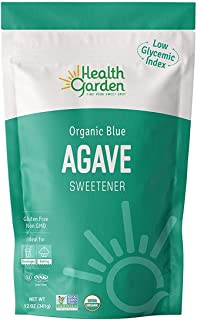 New Health Garden Blue Agave Sweetener Crystals - Organic - Non GMO - Low Glycemic - Kosher - Keto Friendly (12 oz x 2)