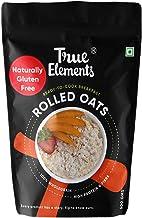 True Elements Rolled Oats 500gm - Gluten Free Oats, Fibre Rich, Rolled Oats for Weight Loss, Diet Food