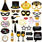 Happy New Year Photo Booth Props32Pcs,2019 New Year Party...