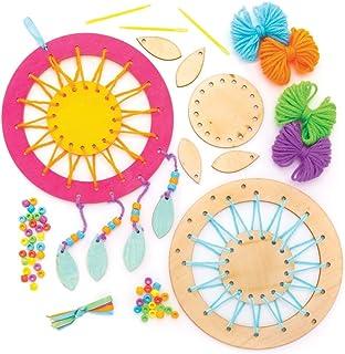 Baker Ross Kit de Atrapasueños de Madera (paquete de 4) para que los niños hagan, personalicen y exhiban para actividades ...