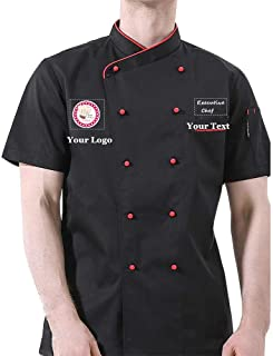 Add Your Own Name Text Image Chef Jacket Personalized Customized Hotel Kitchen Restaurant Chef Coat