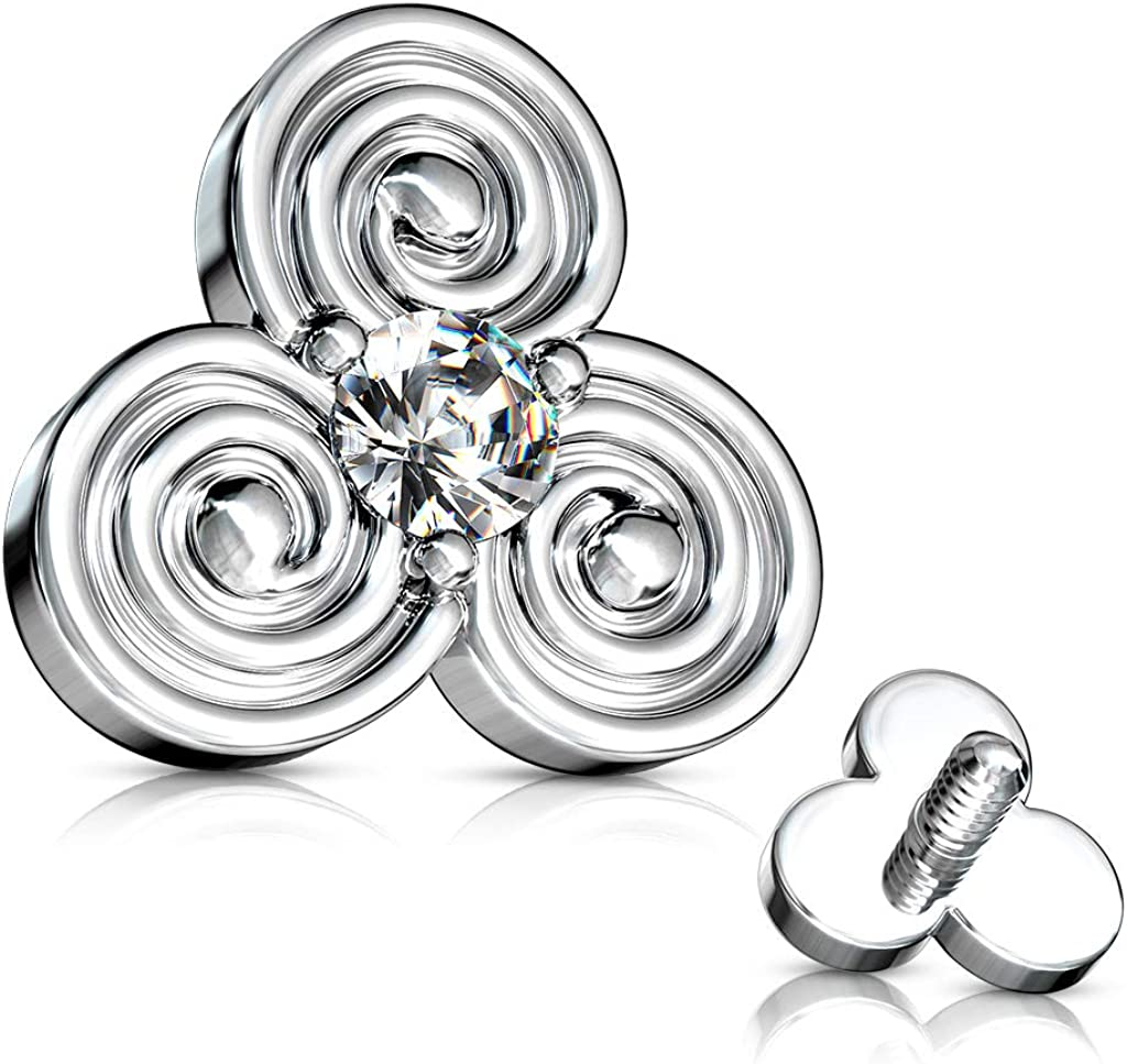 Max 75% OFF Amelia Fashion 14 Gauge Stacked Tribal Circles with Center CZ Japan's largest assortment De