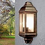 Lámpara de pared rústica para exterior'Livorno' óptica de cobre / IP44...