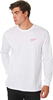 Swell Men's Lo-Cal Mens Ls Tee Long Sleeve Cotton Soft White