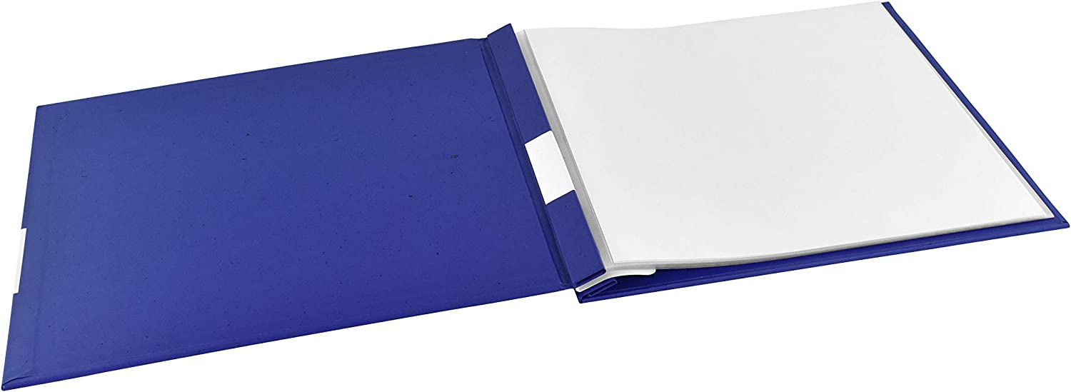 MCS Blue MBI 13.5x12.5 Inch Baseball Sports Scrapbook Album with 12x12 Inch Pages
