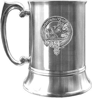 MacTavish Scottish Clan Crest Pewter Badge Tankard