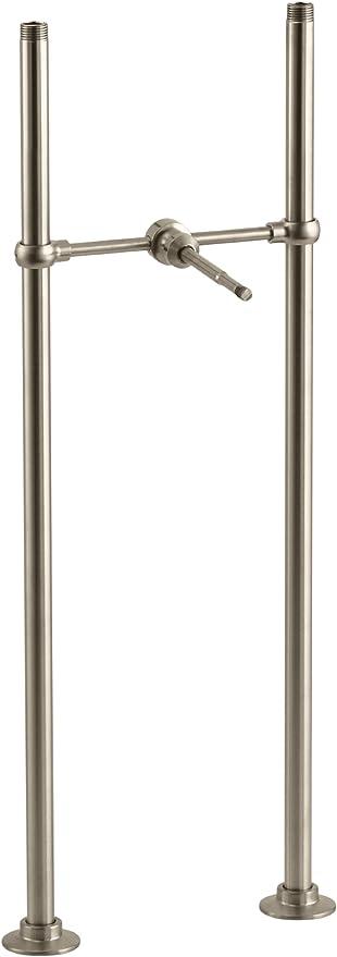 Kohler K 127 Bv Antique Riser Tubes And Cross Connection 26 Long Vibrant Brushed Bronze Tub And Shower Faucets