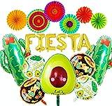 JeVenis Set de 14 Decoración de fiesta mexicana Decoración de fiesta Fiesta Globos de fiesta Globos de cactus Suministros de fiesta Fiesta