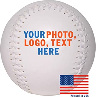 Custom Personalized Softball - Ships in 3 Business Days, High Resolution Photos, Logos & Text on Softball Balls - for Players, Trophies, MVP Awards, Coaches, Personalized Gifts