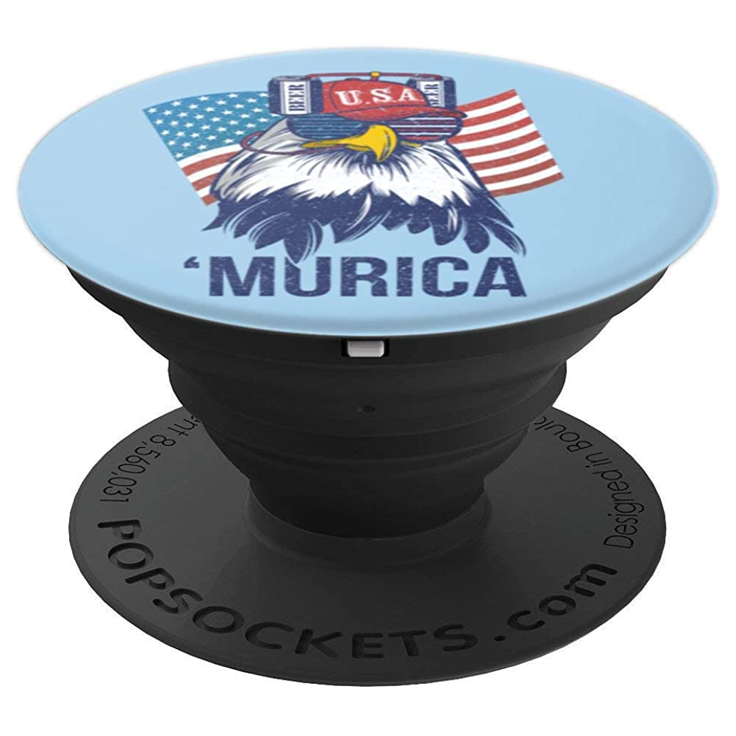 Beer Hat Drinking Eagle 4th of July - PopSockets Grip and Stand for Phones and Tablets