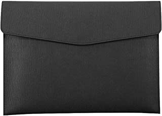 Enyuwlcm PU Leather A4 File Folder Document Holder Waterproof Portfolio Envelope Folder Case with Snap Closure Black