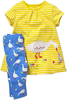 Toddler Baby Girls Clothing Set Cute Print Long Sleeve T Shirt and Pants 2pcs Outfits