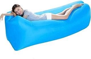 Comius Sharp Tumbona Inflable Air Chair Sofá Cama Saco de Dormir Sofá para Playa Camping Lake Garden Sofá Resistente a la Rotura, 240 * 70 cm