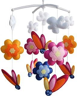 [Fleurs en fleurs] mobile musical, jouet coloré suspendu, cadeau adorable