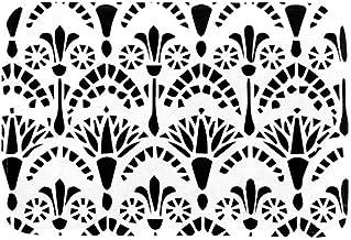 EGGDIOQ Doormats Egyptian Ornament Floral Pattern Custom Print Bathroom Mat Waterproof Fabric Kitchen Entrance Rug, 23.6 x...