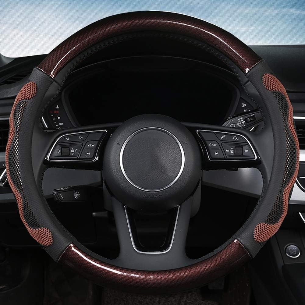 Cleesmil D Type Car Steering Wheel Cover Universal 38CM Steering Wheel Sleeve Anti-slip Steering Wheel Protector Blue