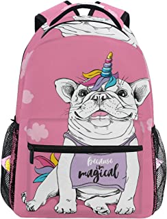School Backpack Cute French Bulldog Teens Girls Boys Schoolbag Travel Bag