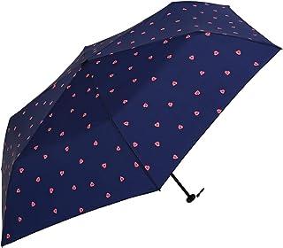 Nifty Colors(ニフティカラーズ) 折りたたみ傘 ハートカーボン軽量ミニ55 ネイビー