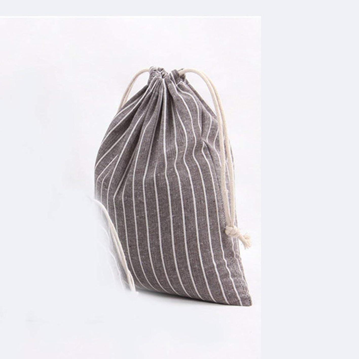 ビリー複雑なウサギストライプコットンバッグギフトキャンディティー巾着ポーチストレージバッグオーガナイザーバギーバッグポケットホルダーコンテナーホップポケット-コーヒーL