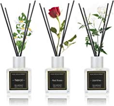 NEVAEHEART Reed Diffuser Set of 3, Reed Diffuser for Office Home Decor, Jasmine Rose Neroli Oil Reed Diffuser with 18 Diff...