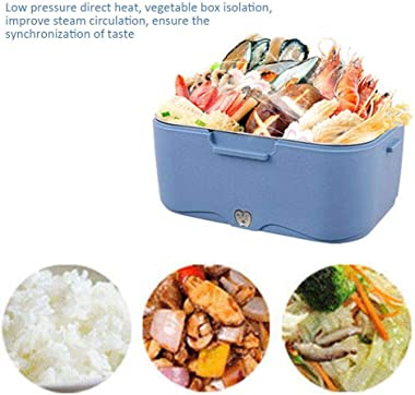 Car/Truck Electric Lunch Box,Portable Food Warmer Heating,Food-Grade Stainless Steel Container,1.5L Removable Bento Food Warm