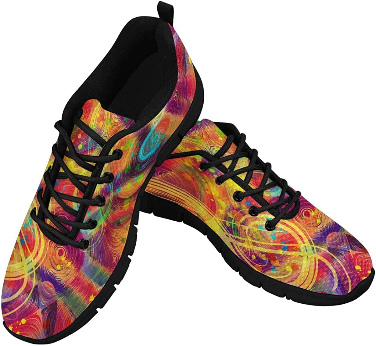 INTERESTPRINT Musical Colorful Women's Breathable Non Slip Sneakers