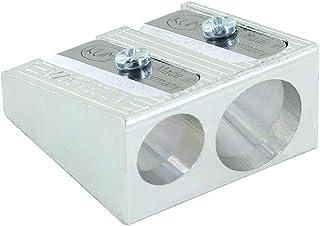 Kum AZ104.05.19-M - dubbele puntenslijper 410 M, van magnesium, zilverkleurig, wigvorm, 1 stuk,Zilver