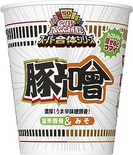 日清食品 カップヌードル スーパー合体シリーズ 味噌&旨辛豚骨 84g×20個