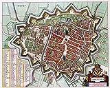 MAP Antique 1649 Van Loon Groningen City PLAN Large Replica
