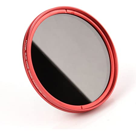 Amazon Com Focusfoto Fotga 52mm Ultra Slim Variable Fader Nd2 Nd400 Neutral Density Nd Filter Adjustable Nd2 Nd4 Nd8 Nd16 Nd32 Nd100 To Nd400 For Canon Nikon Dslr Camera Lens With Red Frame