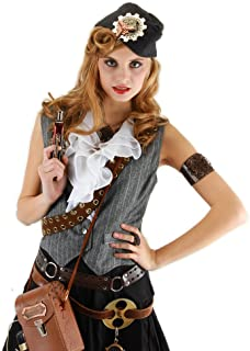 Steampunk Grey Naval Officer Costume Hat Adult One Size