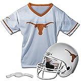 Franklin Sports Texas Longhorns Kids College Football Uniform Set - NCAA Youth Football Uniform Costume - Helmet, Jersey, Chinstrap Set - Youth M