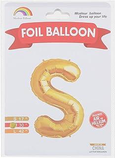 Mcolour Balloon Foil Balloon - Letter S - Meduim Size, Gold