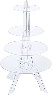 Eiffel Tower Wedding Party Tree Tower Cupcake Stand Display 4 Tier Round Cake Trees Acrylic Cupcake Stand Cake Display