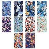 HEALLILY - Patrón de costura de algodón artesanal de estilo japonés, diseño diferente, para manualidades, álbumes de recortes, artesanía, para manualidades, 10 unidades