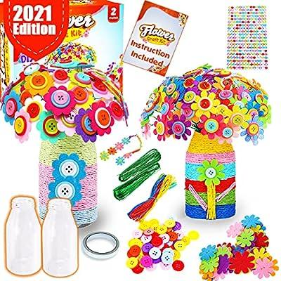 GoodyKing Craft Kits for Kids Girl 8-12 Flower Craft Kit for Kids Flower Craft Kit for Kids - Arts And Crafts Felt Flowers Vase for Boys and Girls - School DIY Activity for Children from GoodyKing