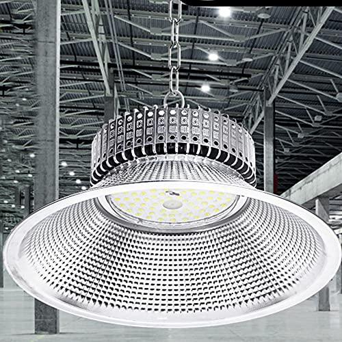 ZJING 100W / 150W / 200W LED High Bay Light, 200W, 24000 LM (400W HID/HPS) 5000K Luz Diurna, IP65, Almacén Comercial/Taller/Luminaria de área de ubicación húmeda,50w