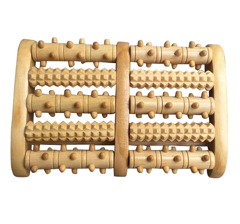 縮約フラグラント明らかにする便利なローラー式マッサージ器木製手芸品ローラーマッサージャー-5列/ 3