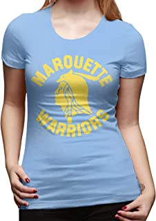 Women's Shirt Marquette Warriors Tshirt Short Sleeve T-Shirt Leisure Tshirt